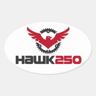 Hawk 250 Logo Oval Sticker