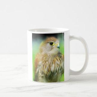 Hawk as a painting 2 coffee mugs