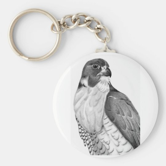 Hawk Basic Round Button Key Ring