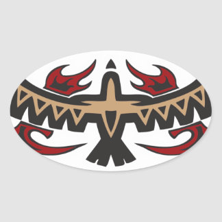 Hawk Eagle Tribal Tattoo Sticker