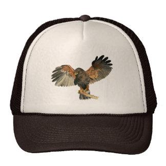 Hawk Flapping Wings Watercolor Painting Cap