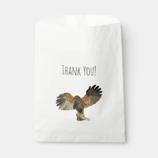 Hawk Flapping Wings Watercolor Painting Favour Bags