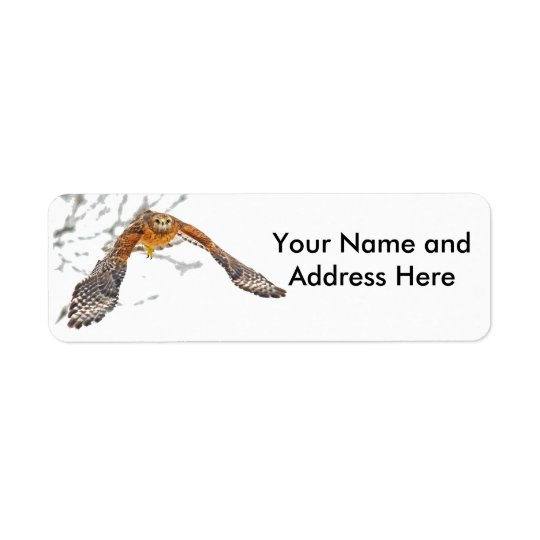 Hawk in Flight Return Address Label