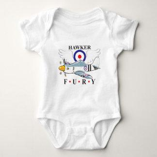 hawker fury caricature baby bodysuit