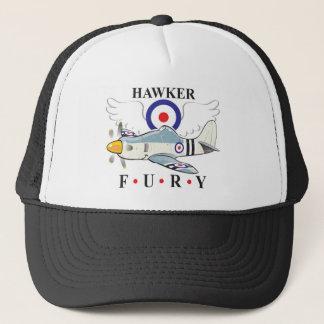 hawker fury caricature trucker hat