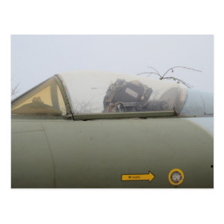 Hawker Hunter Cockpit Detail Postcard