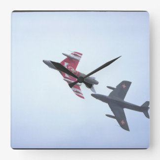 Hawker Hunter F58,_Aviation Photography II Square Wall Clock