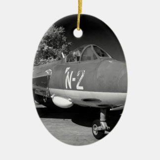 Hawker Hunter FGA.78 aircraft. Ceramic Oval Decoration