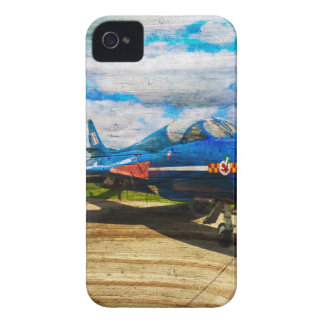 Hawker Hunter T7 aircraft on wood Case-Mate iPhone 4 Cases