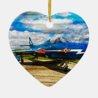 Hawker Hunter T7 aircraft on wood Christmas Ornament