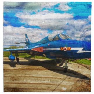 Hawker Hunter T7 aircraft on wood Napkin
