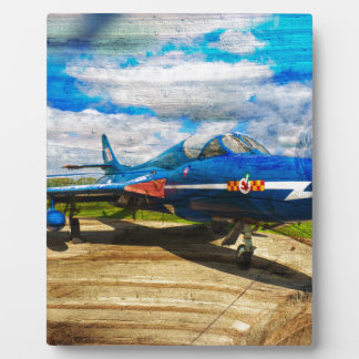 Hawker Hunter T7 aircraft on wood Plaque