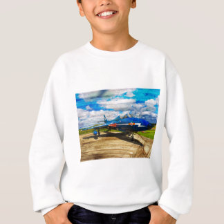 Hawker Hunter T7 aircraft on wood Sweatshirt