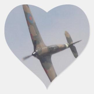 Hawker Hurricane Battle of Britain Heart Sticker