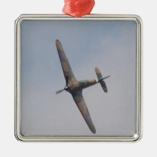 Hawker Hurricane Battle of Britain Silver-Colored Square Decoration