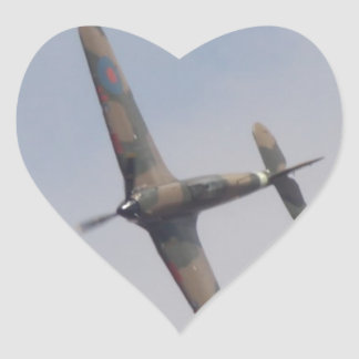 Hawker Hurricane Battle of Britain Heart Sticker