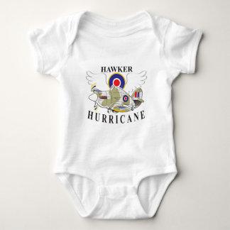 hawker hurricane caricature baby bodysuit