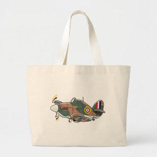 hawker hurricane caricature tote bags