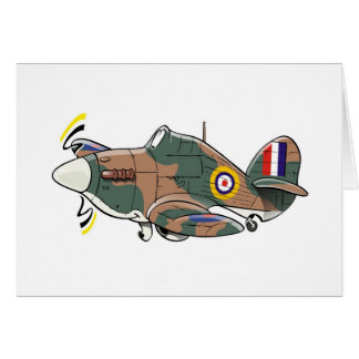 hawker hurricane caricature card