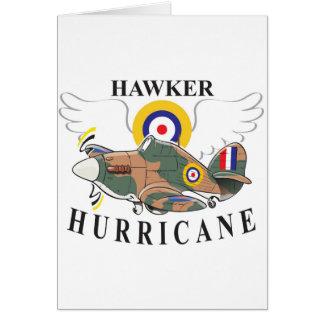 hawker hurricane caricature card