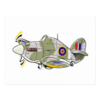 hawker hurricane caricature postcard