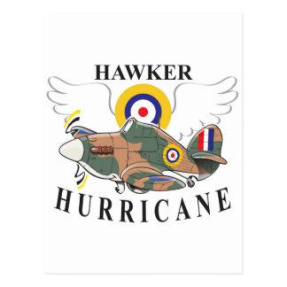 hawker hurricane caricature postcard