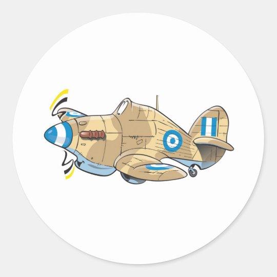 hawker hurricane classic round sticker