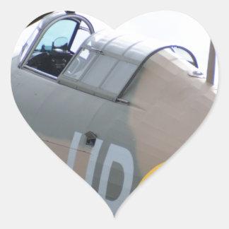 Hawker Hurricane Cockpit Heart Sticker