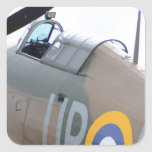 Hawker Hurricane Cockpit Square Sticker