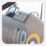 Hawker Hurricane Cockpit Square Sticker