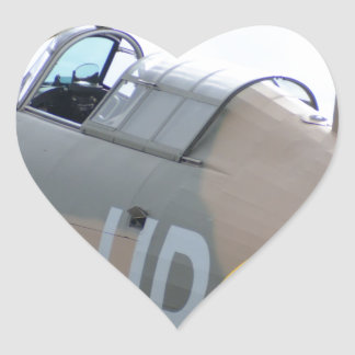 Hawker Hurricane Cockpit Heart Sticker