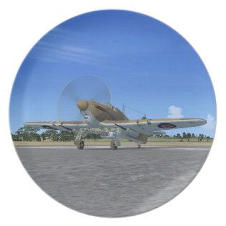 Hawker Hurricane Fighter Plane Plate