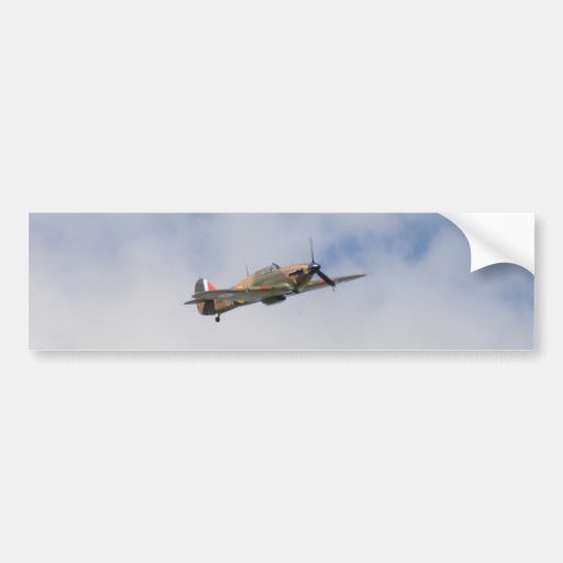 Hawker Hurricane In Flight Bumper Sticker