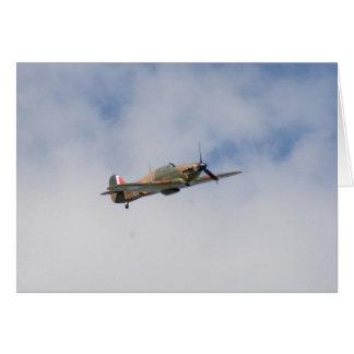 Hawker Hurricane In Flight Greeting Card