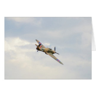 Hawker Hurricane In The Clouds Greeting Card