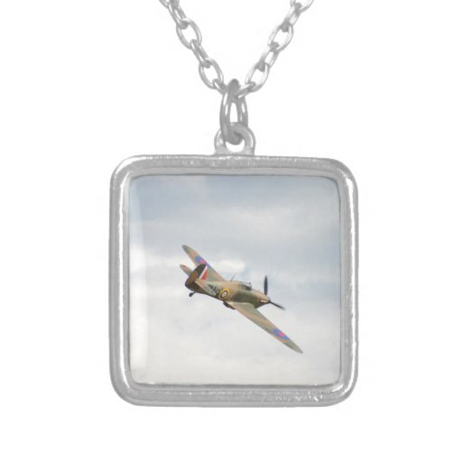 Hawker Hurricane In The Clouds Personalized Necklace