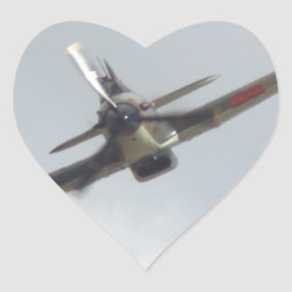 Hawker Hurricane `Last of the many' Heart Sticker
