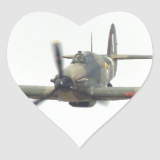 Hawker Hurricane `Last of the many' Heart Sticker