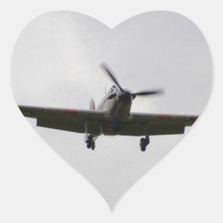 Hawker Hurricane On Approach Heart Sticker