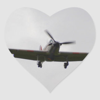 Hawker Hurricane On Approach Heart Sticker