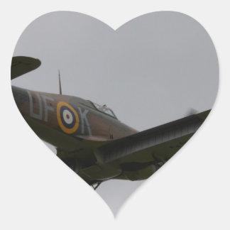Hawker Hurricane On Finals Heart Sticker