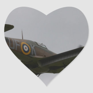 Hawker Hurricane On Finals Heart Sticker