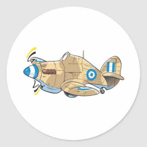 hawker hurricane round sticker