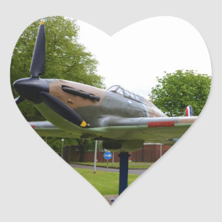 Hawker Hurricane Heart Sticker