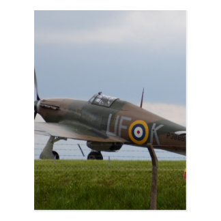 Hawker Hurricane Three Quarter View Postcard