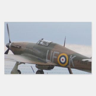 Hawker Hurricane Three Quarter View Rectangular Sticker