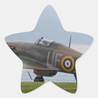 Hawker Hurricane Three Quarter View Star Sticker
