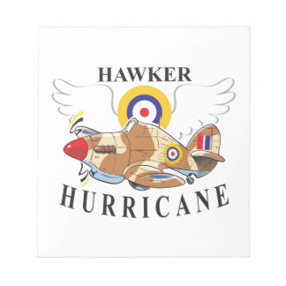 hawker hurricane tropical version notepad