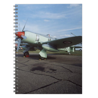 Hawker Sea Fury at CAF, Minnesota Wing, at the 2 Spiral Notebooks