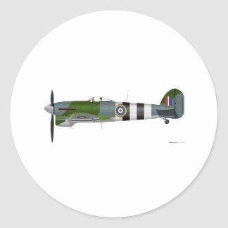 Hawker Typhoon 1-B Classic Round Sticker